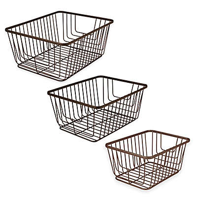 Spectrum® Ashley Storage Basket in Bronze