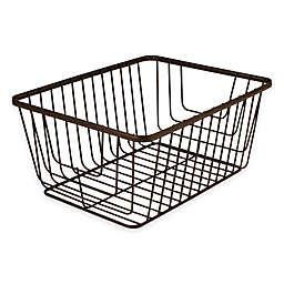 Spectrum® Ashley Medium Storage Basket in Bronze