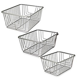 Spectrum® Ashley Storage Basket in Satin Nickel