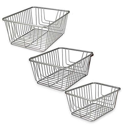 Spectrum® Ashley Storage Basket in Satin Nickel