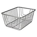 Spectrum® Ashley Medium Storage Basket in Satin Nickel