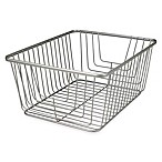 Spectrum® Ashley Large Storage Basket in Satin Nickel