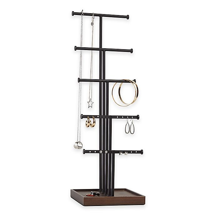 Alternate image 1 for Umbra® Gemma 5-Tier Jewelry Stand in Natural/Black
