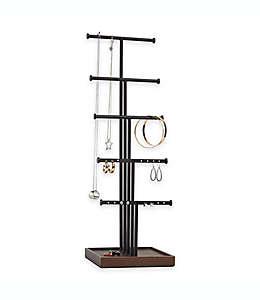 Joyero de 5 niveles color natural/negro de Umbra®