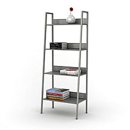 4-Tier Angled Ladder Shelving in Solid Moon Mist