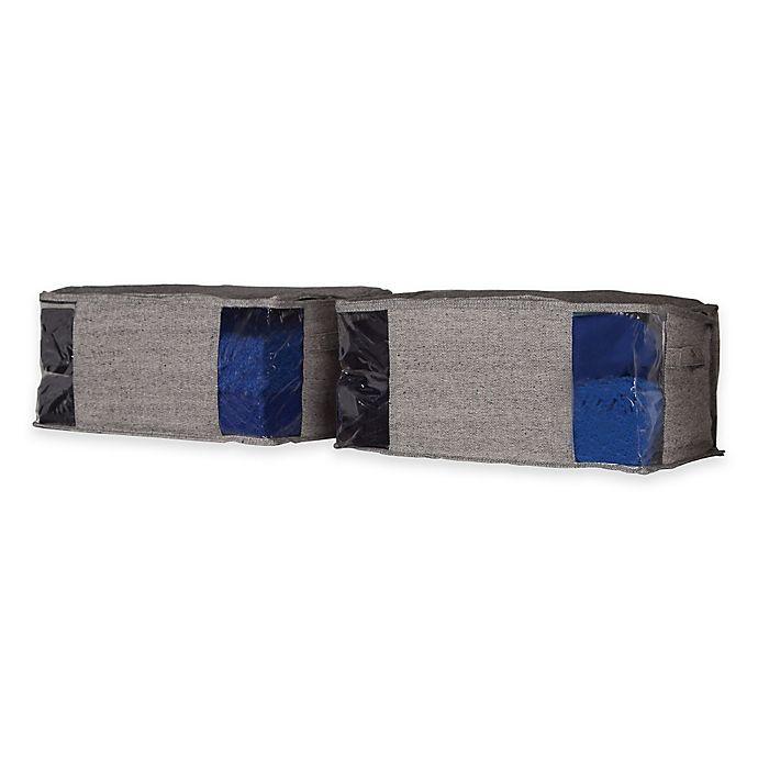 Alternate image 1 for Arrow Weave Garment Storage Bag in Grey (Set of 2)