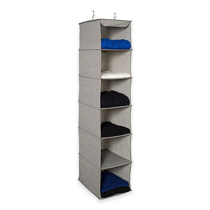 Alternate image 1 for ORG Arrow Weave 6-Shelf Sweater Organizer in Grey