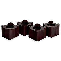 Espresso 3.5-Inch Wooden Bed Lifts (Set of 4)