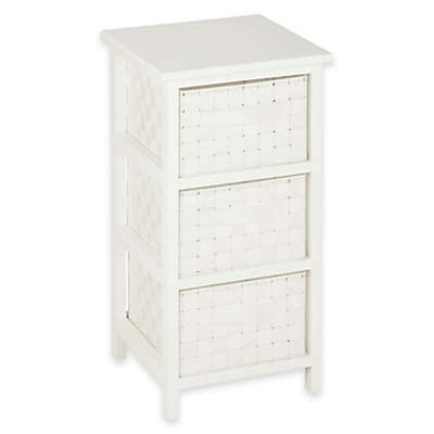 Honey-Can-Do® 3-Drawer Woven Strap Storage Chest in White