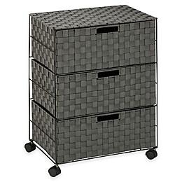 Honey-Can-Do® 3-Drawer Wheeled Chest in Black/White