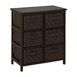 Honey-Can-Do® 6-Drawer Woven Strap Storage Chest in Dark Espresso