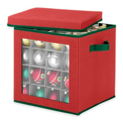 64-Count Ornament Storage Cube in Red | Bed Bath & Beyond