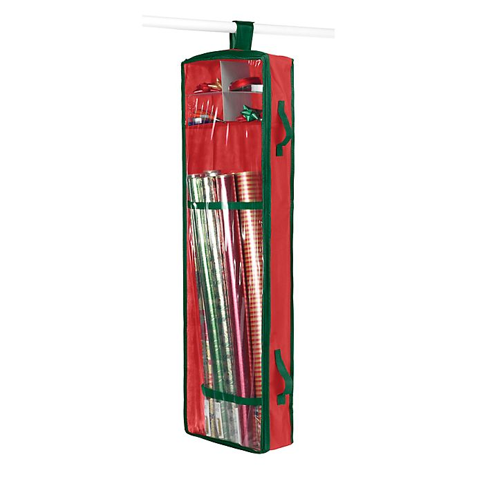 Alternate image 1 for Whitmor Hanging Gift Wrap Organizer in Red/Green