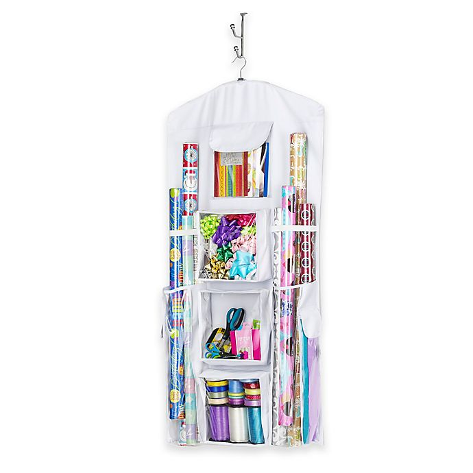 Alternate image 1 for Whitmor Hanging Gift Wrap Organizer in White