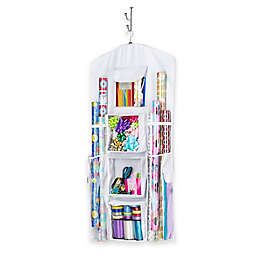 Whitmor Hanging Gift Wrap Organizer in White