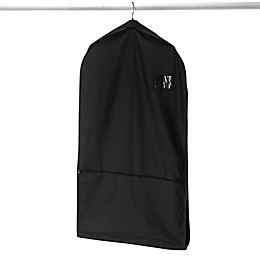Whitmor Deluxe Garment Bag with Pocket in Black