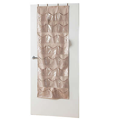 [closetMAX]® SYSTEM™ 24-Pocket Over-the-Door Accessory Organizer in Taupe
