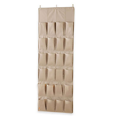 [closetMAX]® SYSTEM™ by Neatfreak! 24-Pocket Over-the-Door Shoe Organizer in Taupe