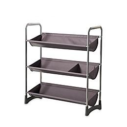 3-Tier Stackable Sport Shelf Unit in Silver