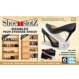 Shoe Slotz™ Storage Units in Ivory (Set of 6)