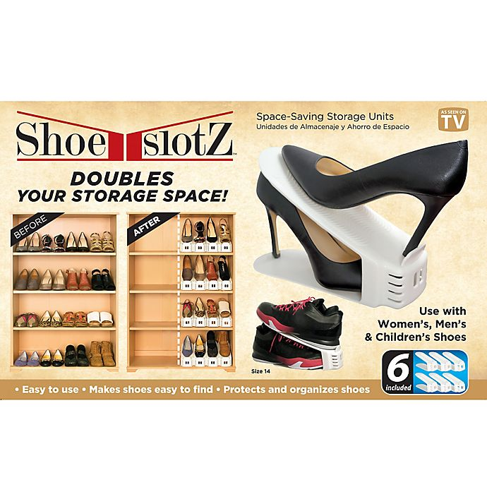 Alternate image 1 for Shoe Slotz™ Storage Units in Ivory (Set of 6)