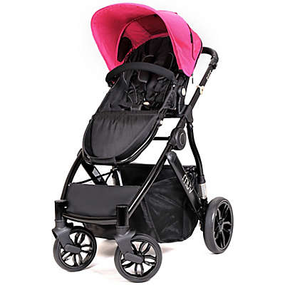 MUV REIS 4-Wheel Stroller in Satin Black/Candy