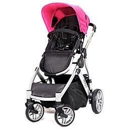 MUV REIS 4-Wheel Stroller in Arctic Silver/Candy