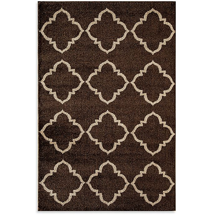 Alternate image 1 for Rugs America Hudson Lattice 5-Foot 3-Inch x 7-Foot 10-Inch Area Rug in Brown