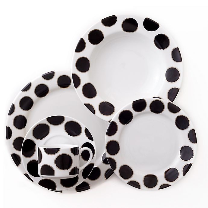 Alternate image 1 for CRU by Darbie Angell Black Pearl 5-Piece Place Setting