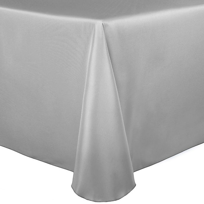 Alternate image 1 for Duchess 90-Inch x 156-Inch Tablecloth in Silver
