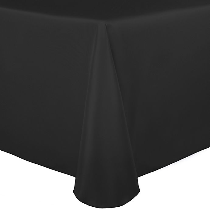 Alternate image 1 for Duchess 90-Inch x 156-Inch Tablecloth in Black