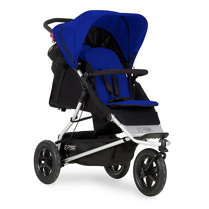 Alternate image 1 for Mountain Buggy® +one™ Inline Double Stroller in Marine