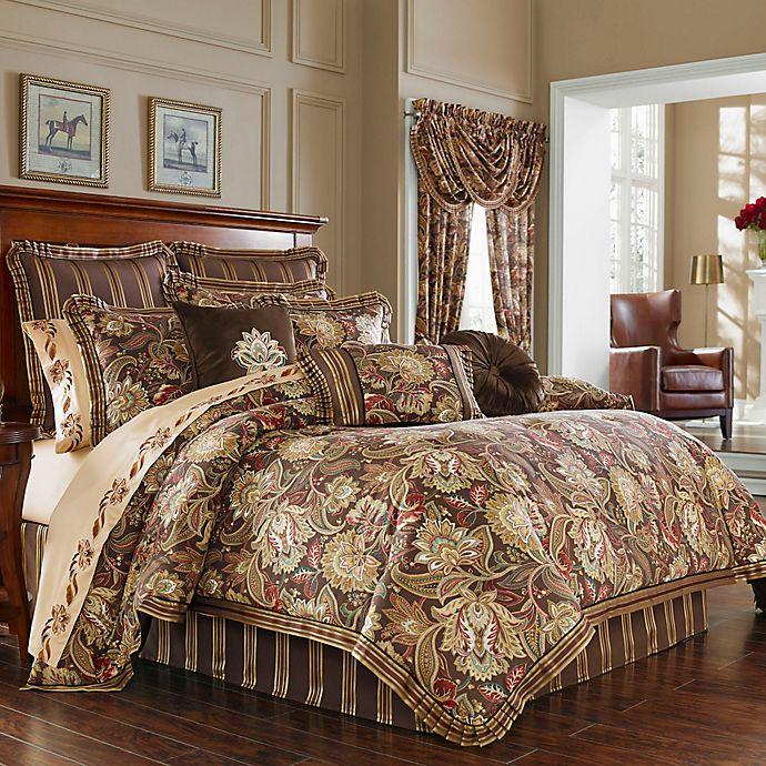 j queen new york™ coventry comforter set in brown  bed