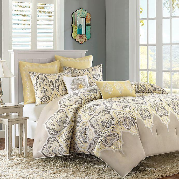 Alternate image 1 for Madison Park Nisha 5-Piece Twin Comforter Set in Yellow