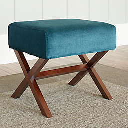 Chatham House Upholstered Ottoman with Wood Legs
