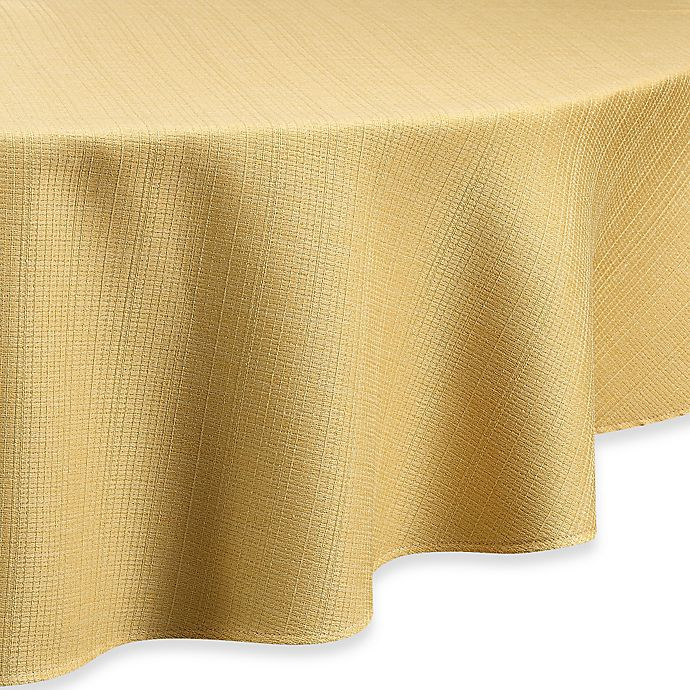 Alternate image 1 for Noritake® Colorwave 90-Inch Round Tablecloth in Mustard