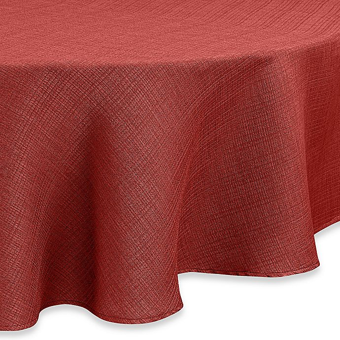 Alternate image 1 for Noritake® Colorwave 70-Inch Round Tablecloth in Raspberry