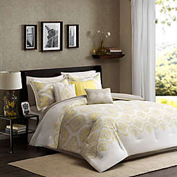 Madison Park Libreto 7-Piece Comforter Set in Yellow