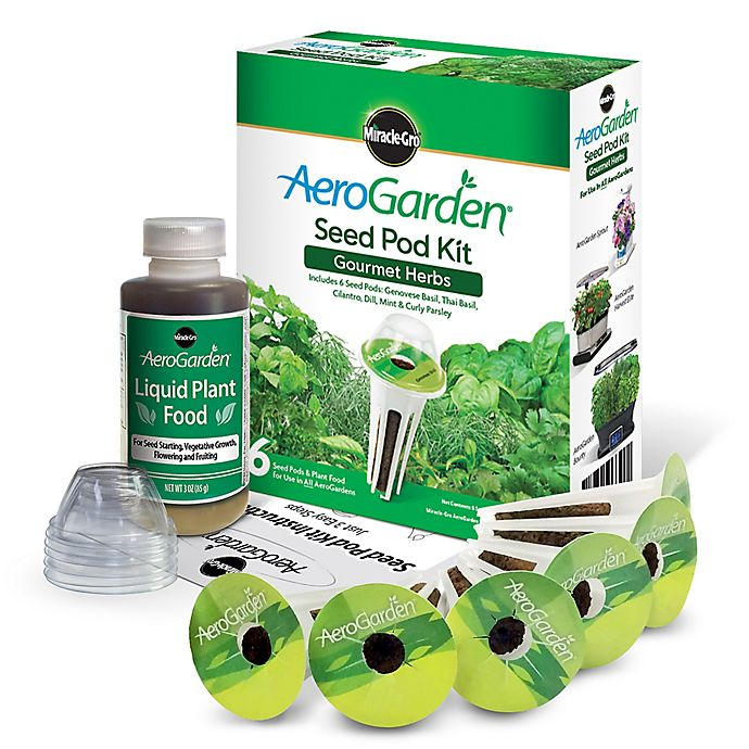 Alternate image 1 for Miracle-Gro® AeroGarden™ Gourmet Herb Seeds 6-Pod Kit