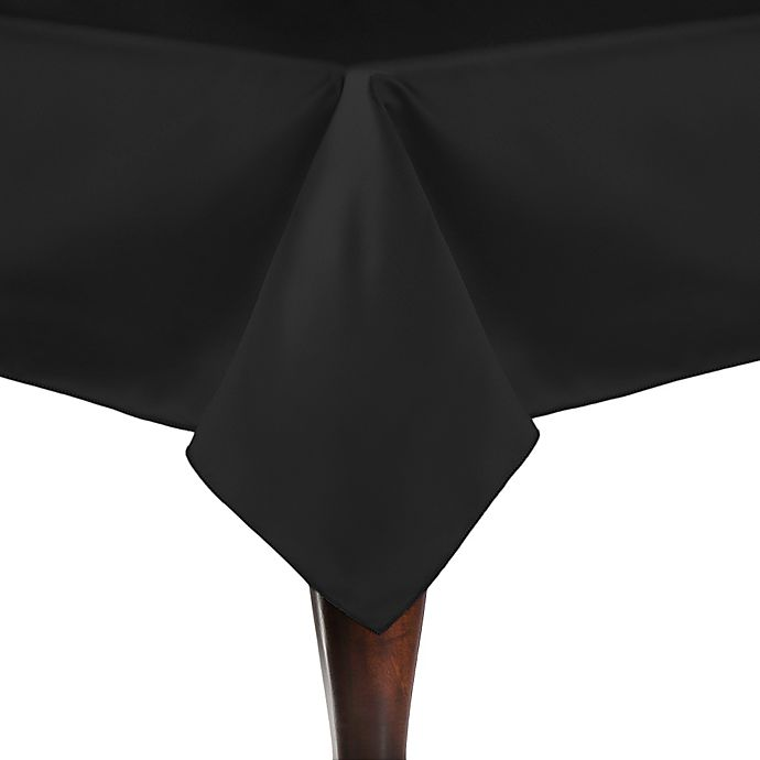 Alternate image 1 for Duchess 90-Inch Square Tablecloth in Black