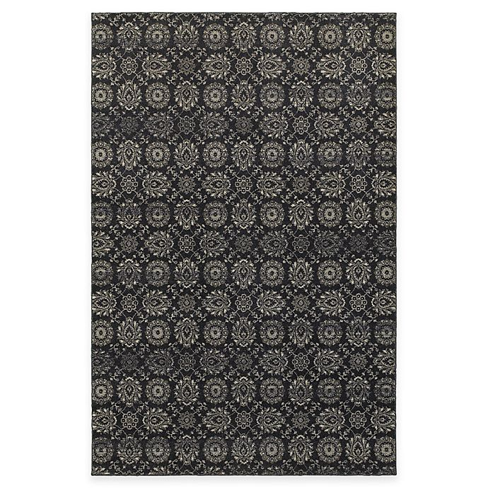 Alternate image 1 for Oriental Weavers Richmond Floral Damask 5-Foot 3-Inch x 7-Foot 6-Inch Area Rug in Navy