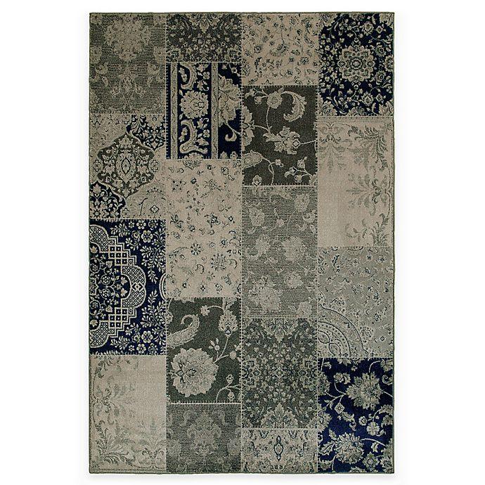 Alternate image 1 for Oriental Weavers Richmond Patchwork 3-Foot 10-Inch x 5-Foot 5-Inch Area Rug in Ivory