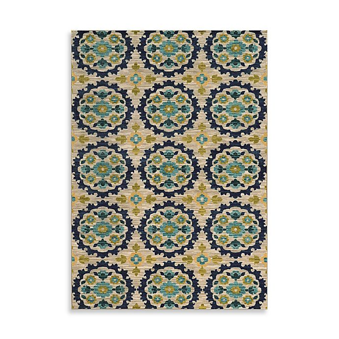 Alternate image 1 for Oriental Weavers Harper Medallion 5-Foot 3-Inch x 7-Foot 6-Inch Area Rug in Beige
