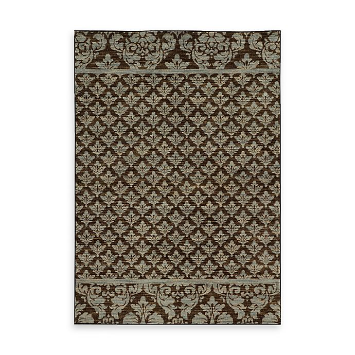 Alternate image 1 for Oriental Weavers Harper Damask 7-Foot 10-Inch x 10-Foot 10-Inch Area Rug in Brown