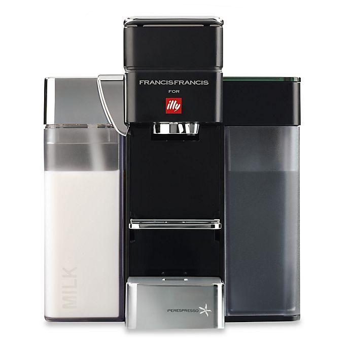 Alternate image 1 for illy® Francis Francis Y5 Milk iper Espresso Machine in Black