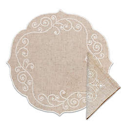 Lenox® French Perle Round Placemat and Napkins