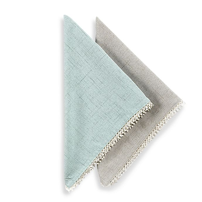 Alternate image 1 for Lenox® French Perle Solid Napkins (Set of 2)