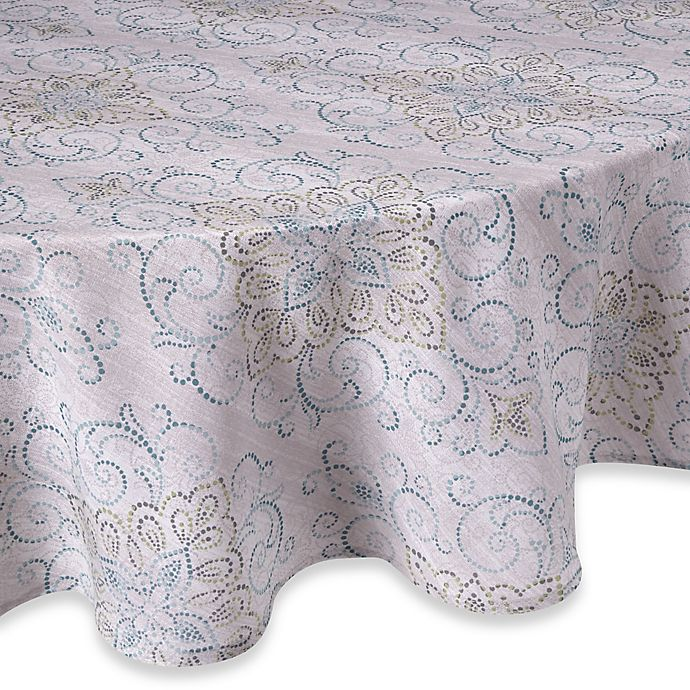 Alternate image 1 for Lenox® French Perle Charm 70-Inch Round Tablecloth