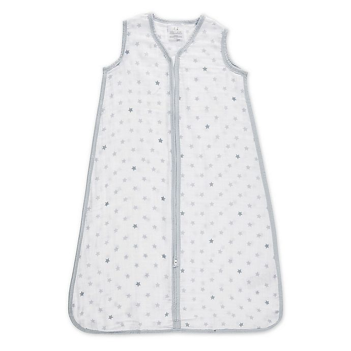 Alternate image 1 for aden® by aden + anais® Dove Muslin Wearable Blanket in White/Grey