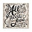 "Part of the Ikat ""All You Need Is Love"" Canvas Wall Art"